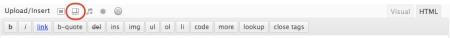 wordpress upload/insert toolbar